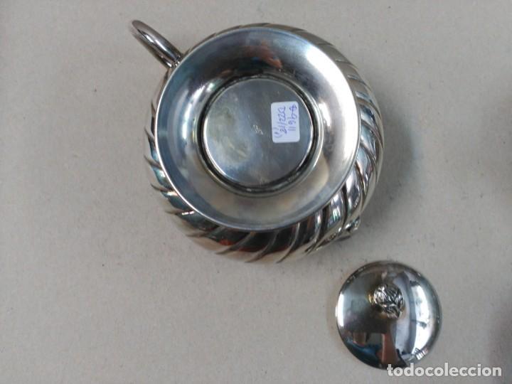 Antigüedades: JUEGO DE CAFE / TE EN ALPACA METAL PLATEADO - Foto 9 - 133241958