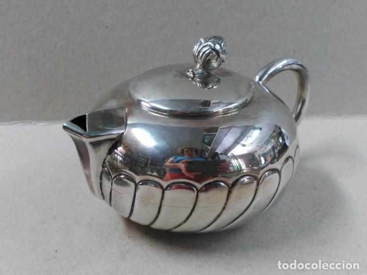 Antigüedades: JUEGO DE CAFE / TE EN ALPACA METAL PLATEADO - Foto 11 - 133241958