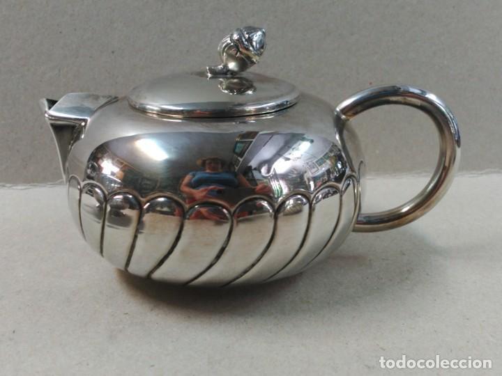 Antigüedades: JUEGO DE CAFE / TE EN ALPACA METAL PLATEADO - Foto 12 - 133241958