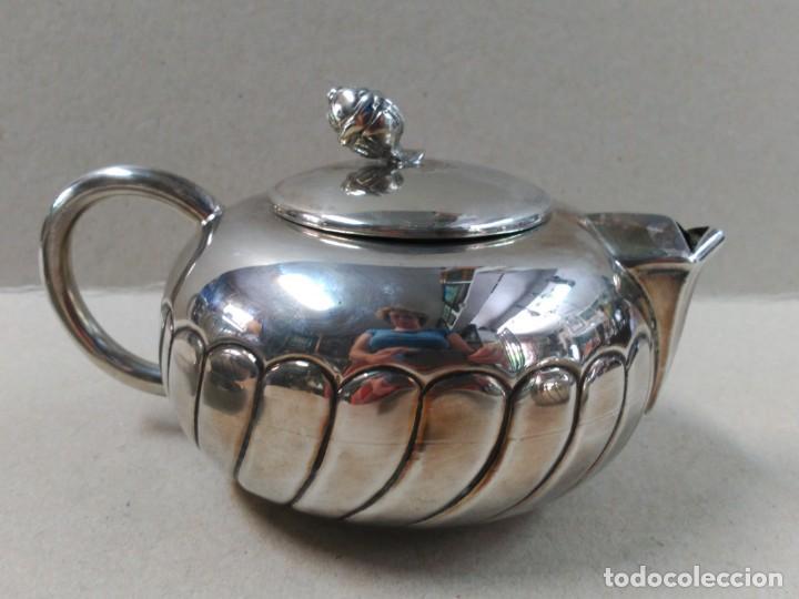 Antigüedades: JUEGO DE CAFE / TE EN ALPACA METAL PLATEADO - Foto 14 - 133241958