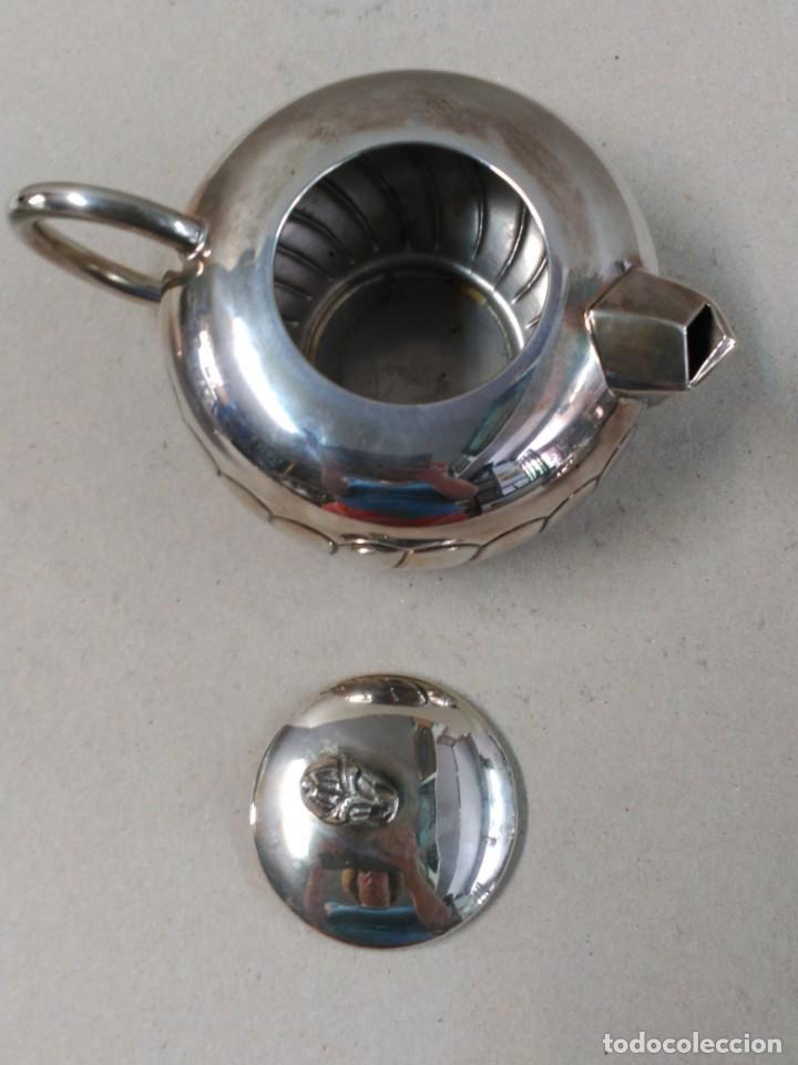 Antigüedades: JUEGO DE CAFE / TE EN ALPACA METAL PLATEADO - Foto 16 - 133241958