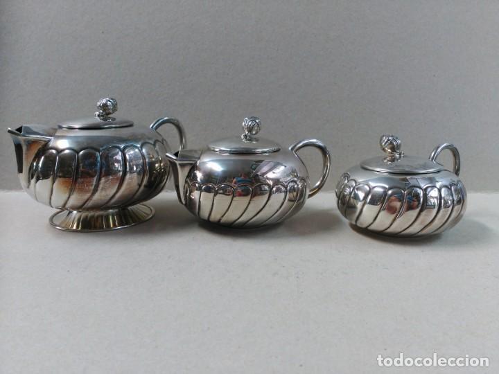 Antigüedades: JUEGO DE CAFE / TE EN ALPACA METAL PLATEADO - Foto 28 - 133241958