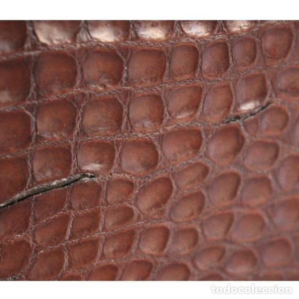 Antigüedades: Antiguo bolso de piel de cocodrilo - Foto 3 - 133244410