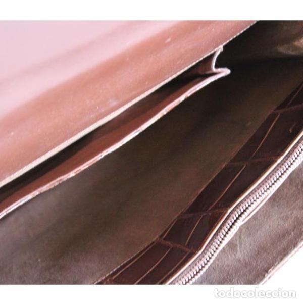 Antigüedades: Antiguo bolso de piel de cocodrilo - Foto 4 - 133244410