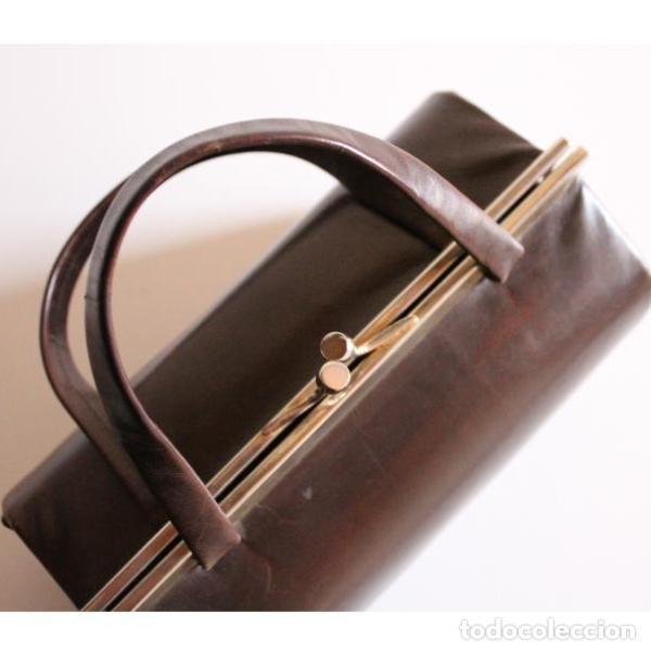 Antigüedades: Antiguo bolso de piel - Foto 2 - 133245158