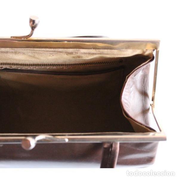 Antigüedades: Antiguo bolso de piel - Foto 3 - 133245158