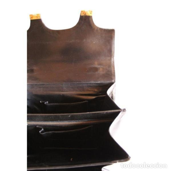 Antigüedades: Bolso antiguo de piel - Foto 3 - 133245766