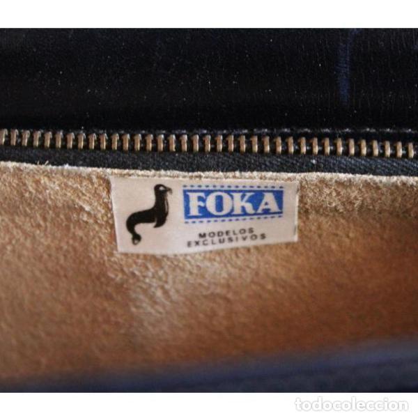 Antigüedades: Antiguo bolso de cuero - Foto 3 - 133247866