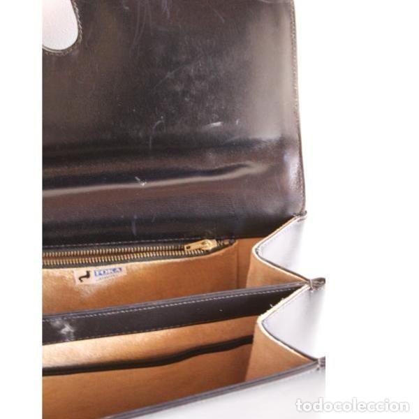 Antigüedades: Antiguo bolso de cuero - Foto 4 - 133247866