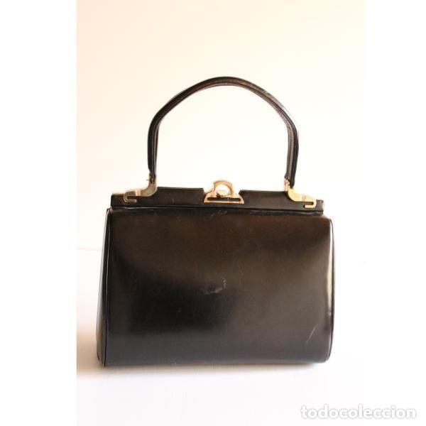 Antigüedades: Aniguo bolso de piel - Foto 2 - 133248622