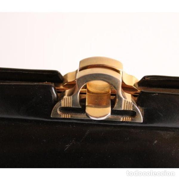 Antigüedades: Aniguo bolso de piel - Foto 3 - 133248622