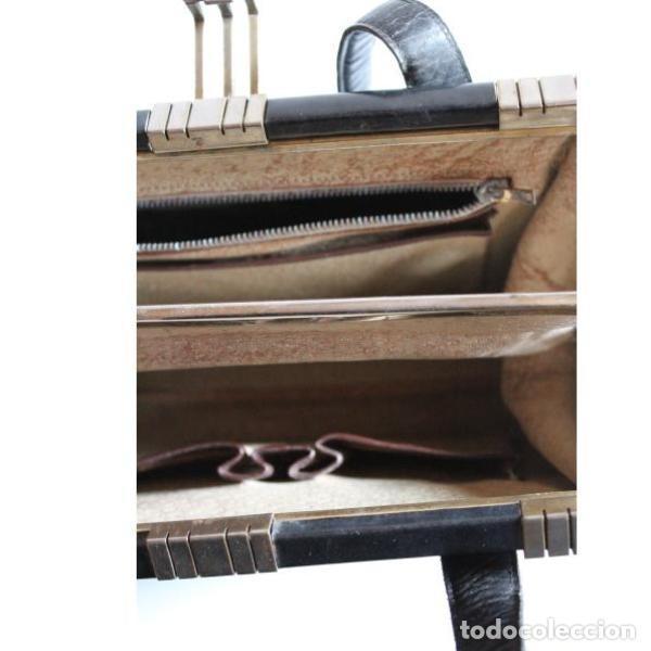 Antigüedades: Bolso de piel - Foto 3 - 133249210