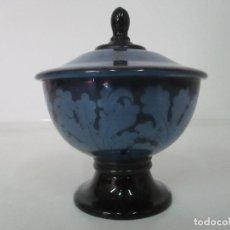 Antigüedades: PRECIOSO BOTE DE CRISTAL - VIDRIO ART DECO - SELLO JEAN BECK (1862-1938), MUNICH. Lote 133282398