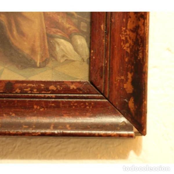 Antigüedades: Antigua lámina religiosa - Foto 3 - 133299018