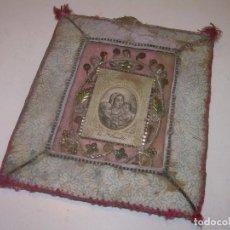 Antigüedades: ANTIGUO Y BONITO... RELICARIO - ESCAPULARIO DE TELA....SIGLO XIX.. Lote 135858801