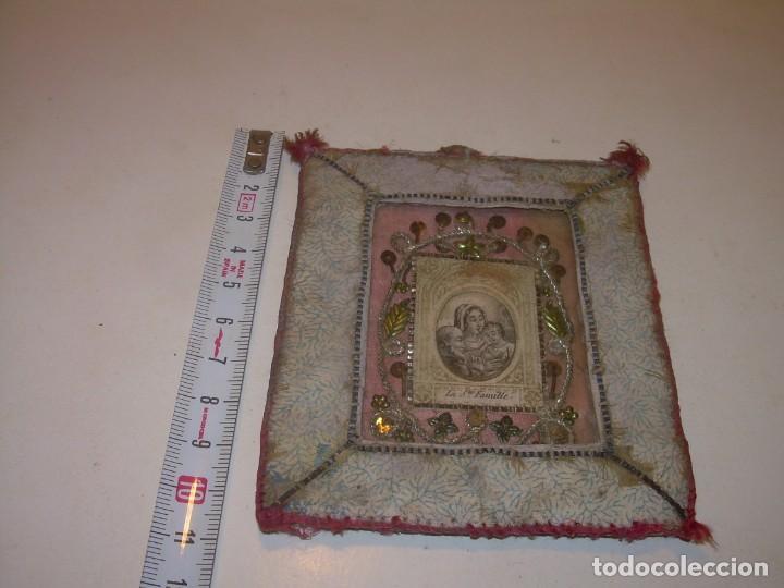 Antigüedades: ANTIGUO Y BONITO... RELICARIO - ESCAPULARIO DE TELA....SIGLO XIX. - Foto 4 - 135858801