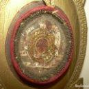 Antigüedades: ANTIGUO Y RARO RELICARIO DE TELA Y SOPORTE DE CARTON.... CUATRO RELIQUIAS... SIGLO XIX.. Lote 133301418