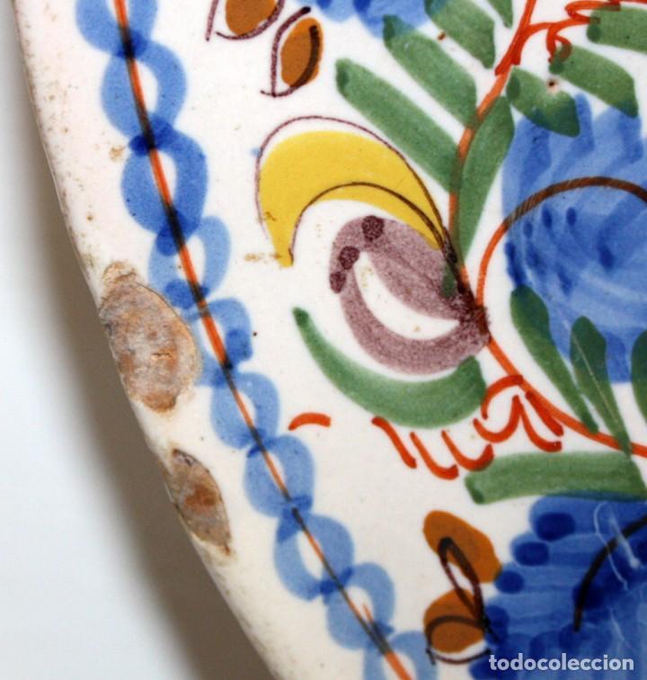 Antigüedades: ANTIGUO PLATO DE RIBESALBES DEL SIGLO XIX. MARCAS EN LA BASE. MANISES - Foto 5 - 133307946