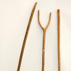 Antigüedades: LOTE DE 3 HORCAS ANTIGUAS EN MADERA. Lote 133310466