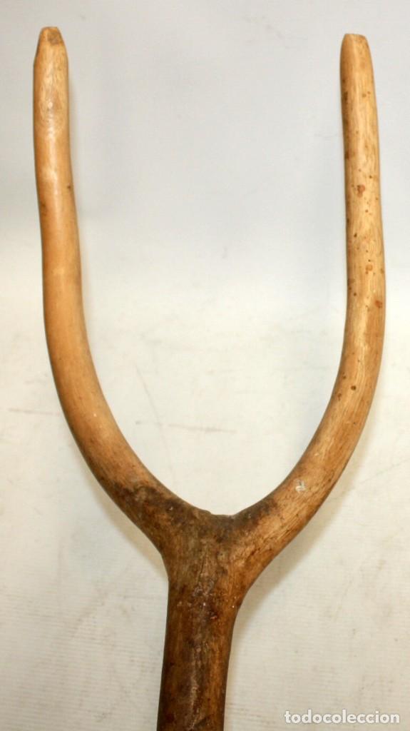 Antigüedades: LOTE DE 3 HORCAS ANTIGUAS EN MADERA - Foto 2 - 133310466