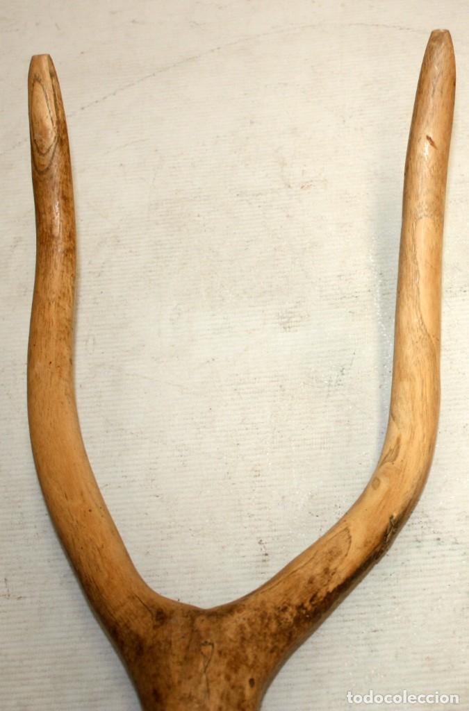 Antigüedades: LOTE DE 3 HORCAS ANTIGUAS EN MADERA - Foto 5 - 133310490