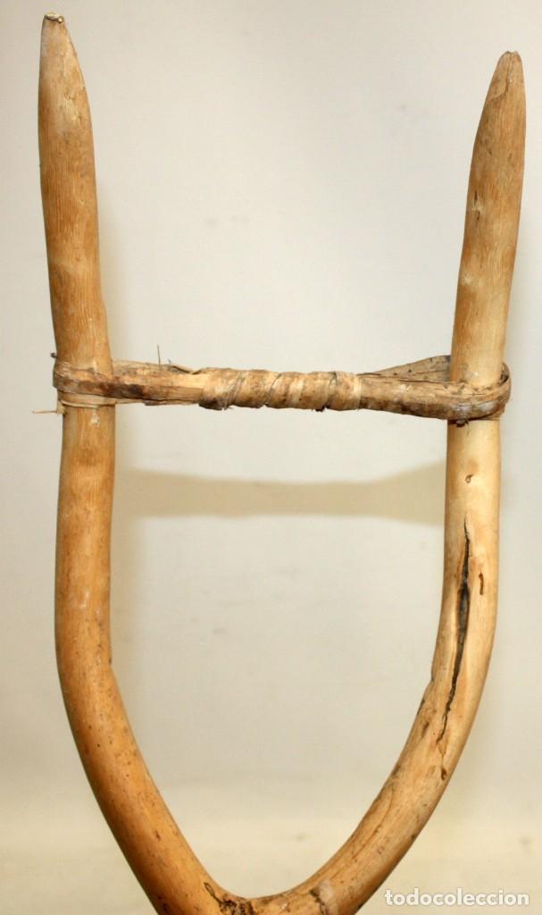 Antigüedades: LOTE DE 3 HORCAS ANTIGUAS EN MADERA - Foto 8 - 133310490