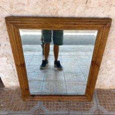 Antigüedades: ANTIGUO ESPEJO DE MADERA. Lote 133330222