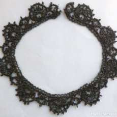 Antigüedades: ANTIGUO CUELLO DE AZABACHE S.XIX . Lote 133335486
