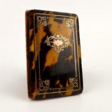 Antigüedades: EXQUISITO CARNET DE BAILE DE CAREY NATURAL Y ORO - FRANCIA SIGLO XIX, 1.850-NAPOLEÓN III. Lote 133342554