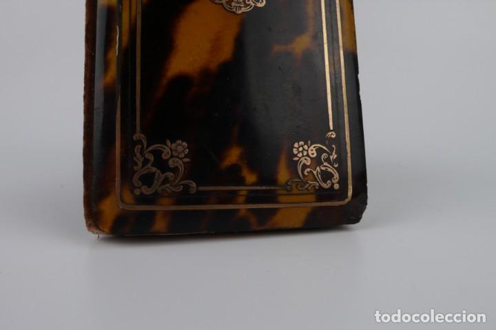 Antigüedades: Exquisito carnet de baile de carey natural y oro - Francia Siglo XIX, 1.850-Napoleón III - Foto 7 - 133342554