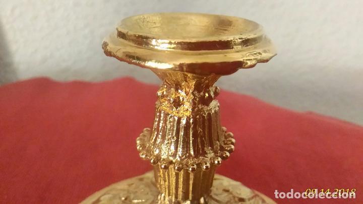 Antigüedades: Porta velas dorado - Foto 4 - 133362626