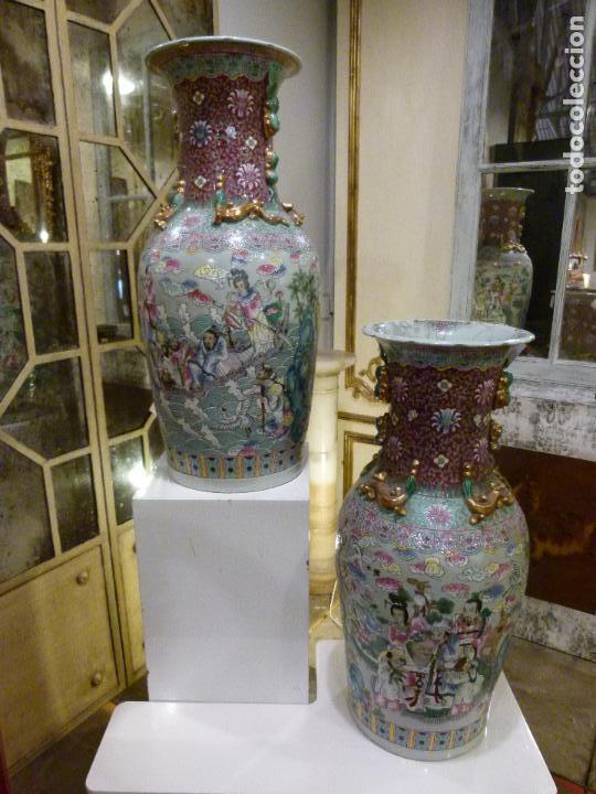 PAREJA DE JARRONES CHINOS SIGLO XIX (Antigüedades - Porcelanas y Cerámicas - Otras)