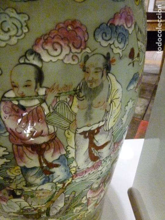 Antigüedades: PAREJA DE JARRONES CHINOS SIGLO XIX - Foto 9 - 133365858