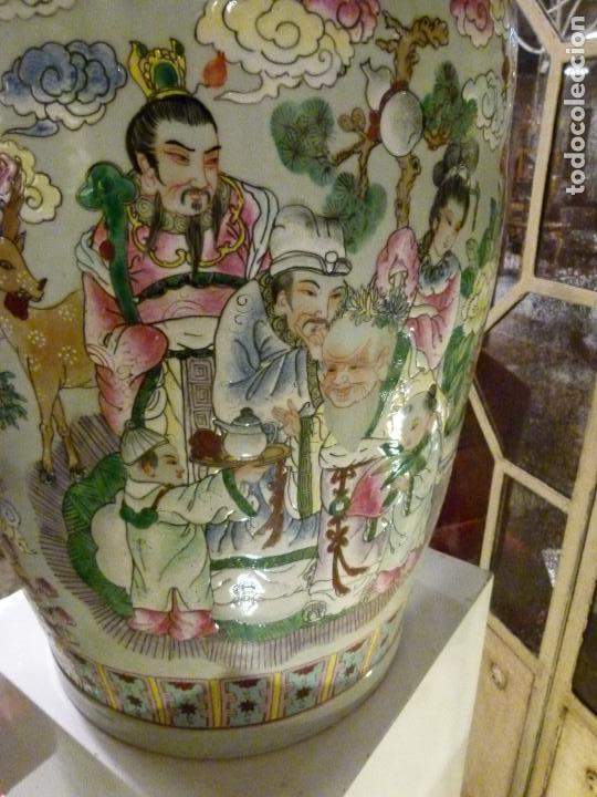 Antigüedades: PAREJA DE JARRONES CHINOS SIGLO XIX - Foto 12 - 133365858