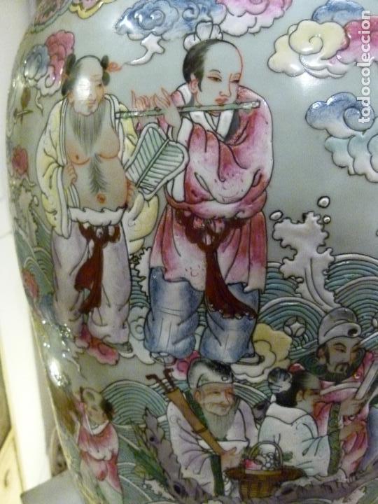 Antigüedades: PAREJA DE JARRONES CHINOS SIGLO XIX - Foto 14 - 133365858