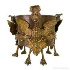 Antigüedades: JARDINERA BRONCE RENACIMIENTO S.XIX GILT DORE JARDINIERE BRONZE ORMOLU RENAISSANCE, DRAGONS, MARK JM. Lote 133373222
