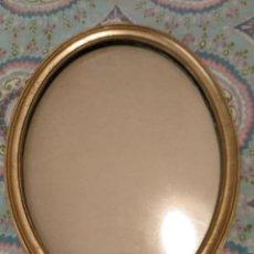 Antigüedades: MARCO OVALADO PAN DE ORO CON CRISTAL . Lote 133374990