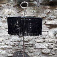 Antigüedades: LÁMPARA DE SOBREMESA EN PLATA VIEJA. Lote 133378774