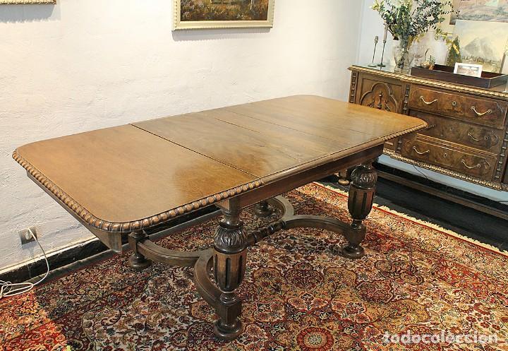mesa de comedor antigua - años 20-30 - extensib - Comprar Mesas ...