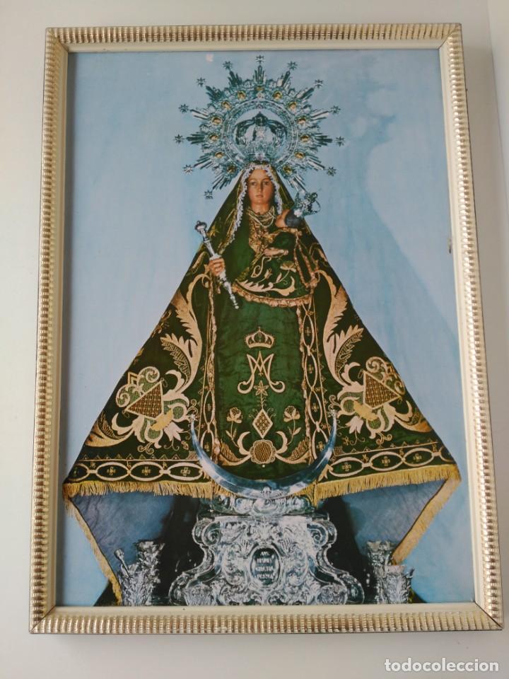CUADRO VIRGEN DE LINAREJOS LINARES(JAÉN) 53X38CM (Antigüedades - Religiosas - Varios)