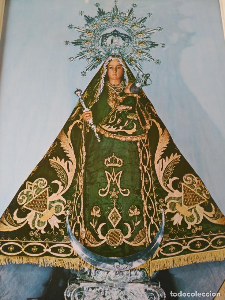 Antigüedades: Cuadro Virgen de linarejos linares(Jaén) 53x38cm - Foto 2 - 133403714