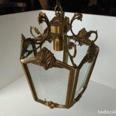 Antigüedades: GRAN LAMPARA O FAROL EN BRONCE. Lote 133404334