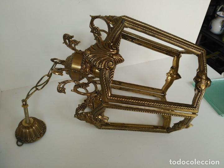 Antigüedades: Gran lampara o farol en bronce - Foto 4 - 133404334