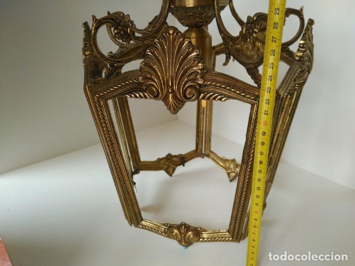 Antigüedades: Gran lampara o farol en bronce - Foto 5 - 133404334