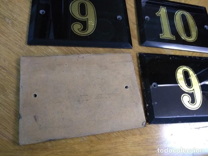 Antigüedades: Conjunto de cinco rótulos de espejos numéricos - Foto 2 - 133413602