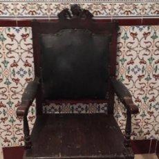 Antigüedades: ANTIGUO SILLÓN FRAILERO. Lote 133419482