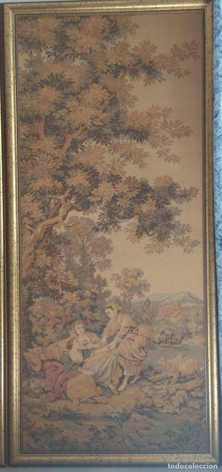 Antigüedades: Pareja de tapices - Foto 3 - 133420166