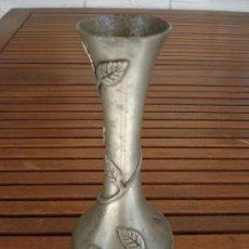 Antigüedades: ANTIGUO SOLIFLOR FRANCES DE ESTAÑO ART DECO. Lote 133458750