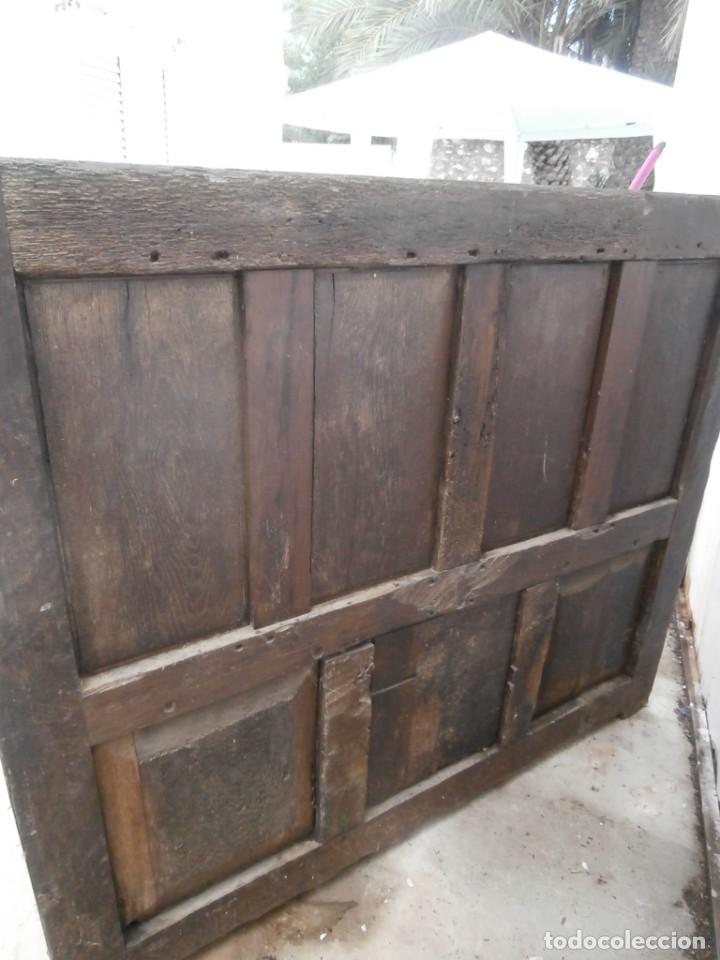 Antigüedades: banco escaño banqueta en madera de roble estilo y epoca gotica,siglo xv-xvi,cuarteron de servilleta - Foto 12 - 133466654