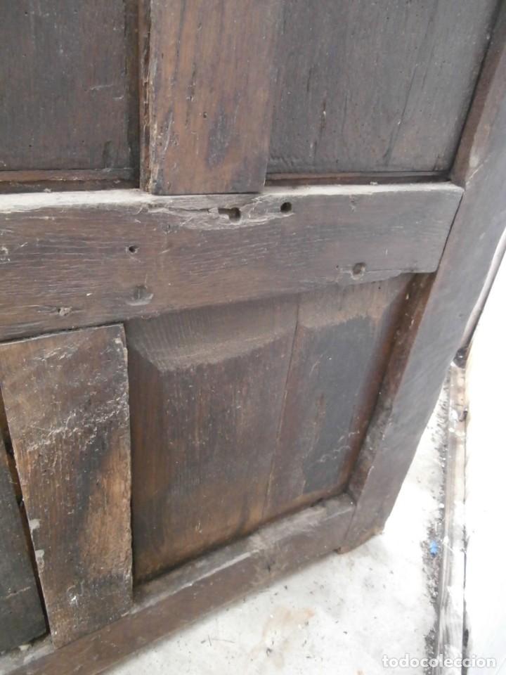 Antigüedades: banco escaño banqueta en madera de roble estilo y epoca gotica,siglo xv-xvi,cuarteron de servilleta - Foto 13 - 133466654